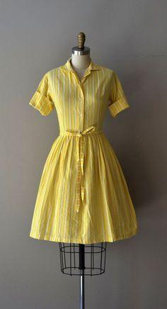 Bright Eyes dress \/ shirtwaist 50s dress \/ 1950s by DearGolden