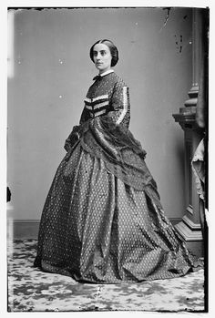 Another shot of Elizabeth Hamilton (Mrs. Henry Wage Halleck). She was the grand-daughter of Alexander Hamilton, and married Mr. Halleck in 1855.           Library of Congress Prints and Photographs Division. Brady-Handy Photograph Collection. http://hdl.loc.gov/loc.pnp/cwpbh.00834. CALL NUMBER: LC-BH82- 1198 C