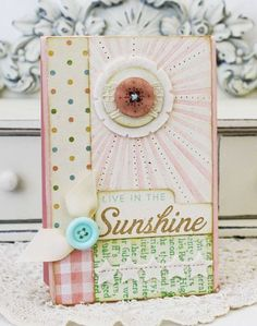 Live In The Sunshine Card by Melissa Phillips for Papertrey Ink (June 2012)