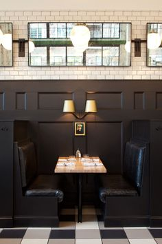 that painted black wall paneling. The General Muir - Named one of the top 50 new restaurants by Bon Appetit magazinelove that painted black wall paneling. The General Muir - Named one of the top 50 new restaurants by Bon Appetit magazine