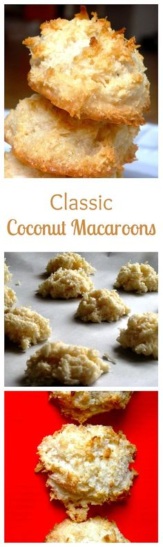 Golden brown, sweet and toasty coconut macaroons with moist chewy centers.
