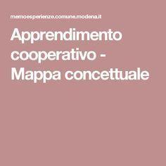 Apprendimento cooperativo - Mappa concettuale