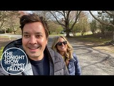 """Jimmy Fallon recalled how he proposed to his wife, Nancy Juvonen, during an """"Ask the Fallons"""" segment of his at-home talkshow. Watch him relive the Nancy Juvonen, New Adventure Quotes, Late Night Show, Engagement Stories, World Tv, Weird Facts, Crazy Facts, Tina Fey, Tonight Show"""