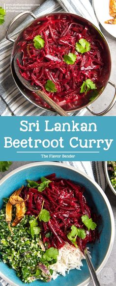 Sri lankan beetroot curry a delicious vegan curry that even the pickiest eaters will love! perfect accompaniment for rice and curry easy to make and flavorful vegetariansidedishes vegansidedishes srilanka india beetroot paneer do pyaza Quick Dinner Recipes, Easy Healthy Dinners, Side Dish Recipes, Easy Healthy Recipes, Delicious Meals, Healthy Options, Breakfast Recipes, Dessert Recipes, Vegetarian Side Dishes