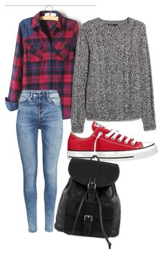 """""""teen"""" by gethighandsmile ❤ liked on Polyvore featuring мода, MANGO, H&M, Converse и NLY Accessories"""