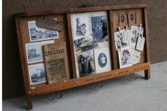 Love this! I have amassed such a collection of vintage items from our families, this would be a super way to display them Mamie Jane's: Printers Drawer