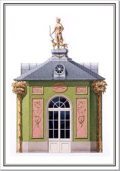 Andrew Zega and Bernd H. Dams, watercolor, Pavillon Diane at Trianon
