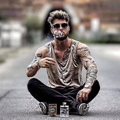 On the way Boy Fashion, Mens Fashion, Gents Hair Style, Bad Boy Style, Poses For Men, Stylish Boys, Men Photography, Men Tumblr, Moda Men