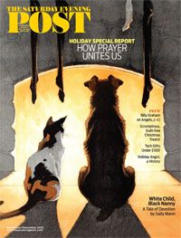"""See what's inside our November/December 2015 issue here: saturdayeveningpost.com/current-issue   On the cover: """"Dog and Cat Wait for Santa"""" by Paul Bransom was originally published on The Country Gentleman, December 23, 1916."""
