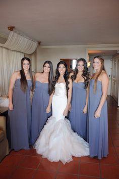 Elegant Bill Levkoff bridesmaid dresses
