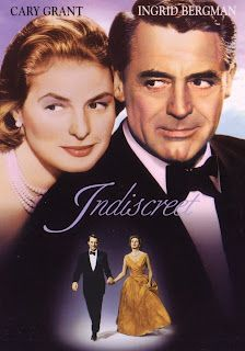 Indiscreet (1958), a Cinematherapy Happily Ever After movie. Are you in need of a Happily-Ever-After movie to fill your mind with bliss and erase all traces of rational thought, so that you can stop thinking and just ENJOY? Here's a prescription for a perfect Happily-Ever-After movie that will serve as chocolate mousse for the soul and smooth every ruffled feather and frayed nerve.