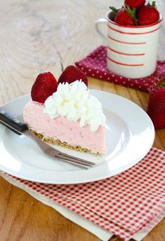 Strawberry Cheesecake Ice Cream Pie from Miss in the Kitchen