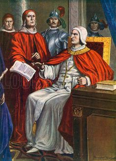 Pope Clement VI commissions the Bishop of Ferrara to take an ultimatum to the Viscontis, 1351