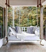 Charming Porch Swing Idea 72