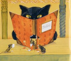 Cat and Mice . Artist Alexander Maskaev .