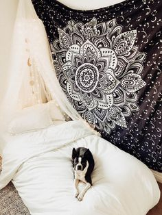 Lady Scorpio | @Ladyscorpio101 ☽☽ ladyscorpio101.com  ☆  Perfect Bedroom Decor for the Hippie at heart  ♡  Shop Lady Scorpio for the ultimate stocking stuffers for the Holidays!  Sparky the Boston Terrier