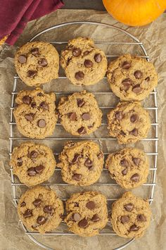 Soft Batch Chocolate Chip Pumpkin Cookies are where perfectly spiced pumpkin pie meets chocolate chip cookies! This is a great fall dessert recipe.