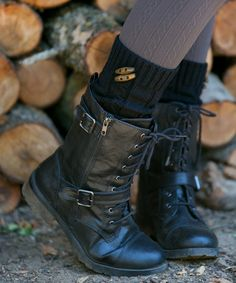 Another great find on #zulily! Black Toggle Leg Warmers #zulilyfinds