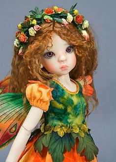 Marigold, a Flower Fairy from Antique Lilac
