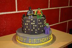 Batman, Robin and The Joker Lego Batman Cakes, Marvel Cake, Lego Marvel, Birthday Parties, Happy Birthday, Cupcakes, Batman Robin, Desserts, Prince