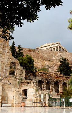 *GREECE... Love to glance up and see the Parthenon from the streets of Plaka!