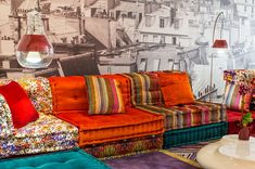 Always love this Roche Bobois sofa! So Boho  - NYTimes.com