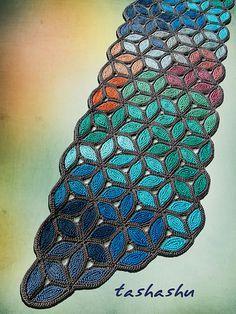 Ravelry: Knitted Scarf Murano pattern by Svetlana Gordon