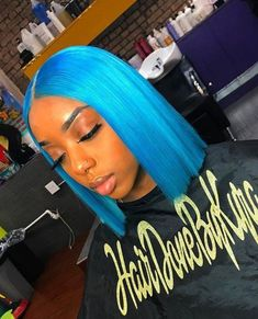 Preferred Hair Blue Hair Wig of Human Hair with Baby Hair Brazilian Lace Front Wig Short Bob Wigs for Women Over 60 Hairstyles, Frontal Hairstyles, Weave Hairstyles, Medium Hairstyles, Straight Hairstyles, 100 Human Hair, Human Hair Wigs, Lavender Hair Colors, Brazilian Lace Front Wigs