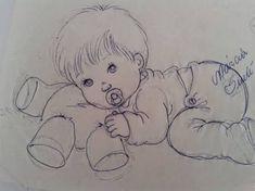 Resultado de imagen para riscos de bebe menino para pintura em fralda