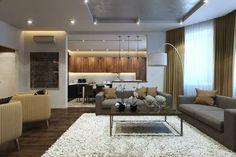 Гостиная совмещенная с кухней - Дизайн интерьеров   Идеи вашего дома   Lodgers