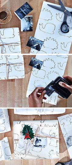 Easy DIY! Create your own gift wrapping using cookie cutters!