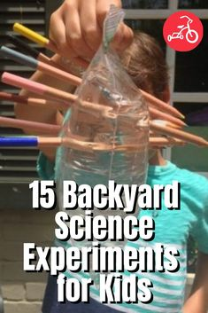 15 Backyard Science Experiments for Kids Science Projects For Preschoolers, Educational Activities For Kids, Preschool Science, Science Experiments Kids, Fun Crafts For Kids, Science For Kids, Fun Learning, Kids And Parenting, Parenting Hacks