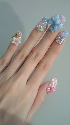 Japanese Kawaii Nails... Crazy impractical but I love them.