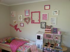 Toddler girl bedroom wall