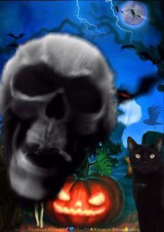 Happy Halloween Gif, Happy Halloween Pictures, Fröhliches Halloween, Halloween Shadow Box, Image Halloween, Snoopy Halloween, Halloween Artwork, Halloween Images, Halloween Live Wallpaper