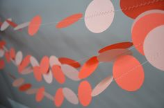 Birthday Decorations, Baby Shower Decorations, Wedding Decorations, Tie Colors, Colours, Circle Garland, Coral Orange, Party Accessories, Perfect Party