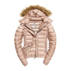 Luxe Fuji Double Zip Hooded Jacket (569240 PYG) ❤ liked on Polyvore featuring outerwear, jackets, coats and fuji