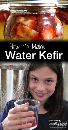 How To Make Water Kefir | We love water kefir! It's better than soda! Not only does it give you all sorts of probiotic goodness, it is not as sweet and doesn't leave you with a sickly sweet upset stomach. This is definitely a frugal and healthy way to break a soda habit! | TraditionalCookingSchool.com