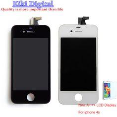 Chất lượng ban đầu Cho iPhone 4 s 4 4 Gam LCD Hiển Thị với Màn Hình Cảm Ứng Digitizer Hội Miễn Phí Vận Chuyển
