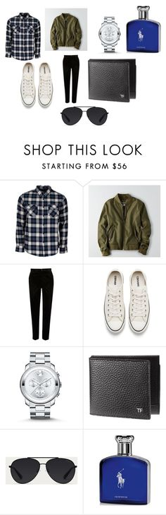 """""""my bf style"""" by aniorengo ❤ liked on Polyvore featuring United by Blue, American Eagle Outfitters, River Island, Converse, Movado, Bally, Ralph Lauren, men's fashion and menswear"""