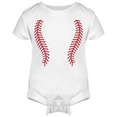 Baseball Onesie w/ Back Infant Rabbit Skins Lap Shoulder Creeper from FunnyShirts.org