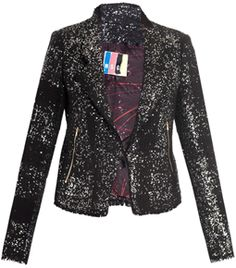 Sequinned Biker Jacket by Msgm #matchesfashion