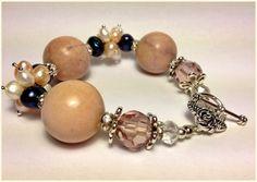 Schmuck Armband Bracelet Perlen Zuchtperle Halbedelsteinschmuck Jewelry Pearl