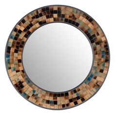 "I like this mosaic mirror.  24"" diameter from Kirklands."