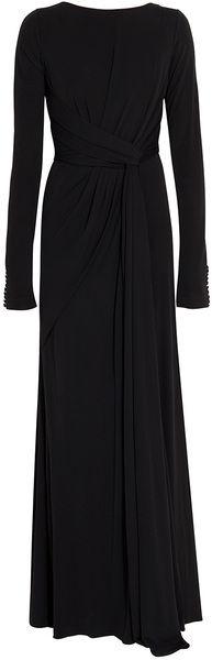 Elie Saab Ls Jersey Gown - Lyst