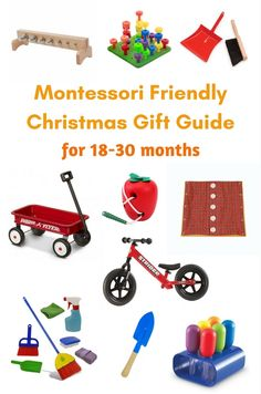 This Montessori friendly Christmas gift guide includes gifts that are gender neutral, categorized by development, and includes ages from infant to 5 years. Learning Games For Kids, Toddler Learning, Infant Activities, Activities For Kids, Preschool Ideas, Montessori Activities, Christmas Gift Guide, Christmas Gifts, Montessori Toddler
