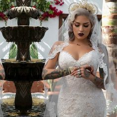 Gorgeous bride with Tattoos ❤️