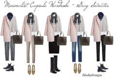 Minimalist Wardrobe - Gray Sweater by bluehydrangea Travel Wardrobe, Capsule Wardrobe, Wardrobe Ideas, San Diego, Inspiration Mode, Minimalist Wardrobe, Closet Organization, Wardrobes, Grey Sweater
