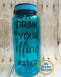 Drink Your Effing Water! 34 Ounce Wide Mouth Tritan Water Bottles *BPA-free Tritan plastic is crazy strong, and it helps keep your body healthy *Large opening accommodates ice cubes and most water fil Healthy Foods To Eat, Healthy Drinks, Healthy Cooking, Get Healthy, Healthy Life, Healthy Living, Healthy Eats, Slimming Recipes, Clean Diet