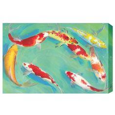 Wall Art Fengshui Print- Koi Fish